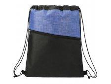 Cross Weave Zippered Drawstring Bag